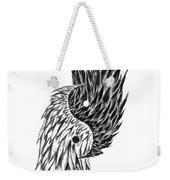 Feathered Ying Yang  Weekender Tote Bag