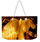Feathers Of Light - Gold Weekender Tote Bag