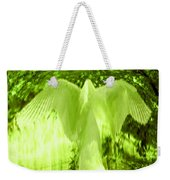 Feathers Of Light - Green Weekender Tote Bag