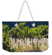 Feathery White Plants Weekender Tote Bag