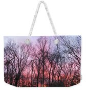 February At Twilight Weekender Tote Bag