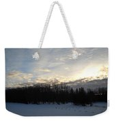 February Dawn Clouds Weekender Tote Bag