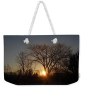 February Sunrise Behind Elm Tree Weekender Tote Bag