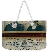Federal Prohibition Agent Daisy Simpson 1921 Weekender Tote Bag