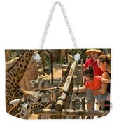 Feeding Giraffe 2 Weekender Tote Bag