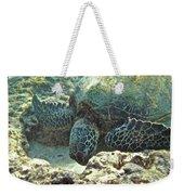 Feeding Sea Turtle Weekender Tote Bag