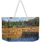 Feeding The Ducks Weekender Tote Bag