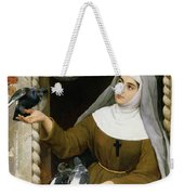 Feeding The Pigeons Weekender Tote Bag by Eugen von Blaas