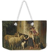Feeding The Sheep Weekender Tote Bag
