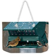Feeding Time At The Bird Trough Weekender Tote Bag