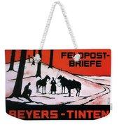 Feldpost-briefe - Beyers-tinten - Two Man With Horses - Retro Travel Poster - Vintage Poster Weekender Tote Bag