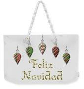 Feliz Navidad Spanish Merry Christmas Weekender Tote Bag