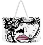 Female Abstract Face Weekender Tote Bag by Darren Cannell