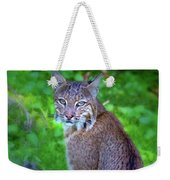 Female Bobcat Weekender Tote Bag