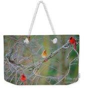 Female Cardinal And Friends Weekender Tote Bag
