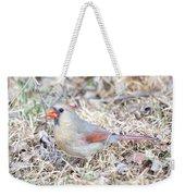 Female Cardinal Weekender Tote Bag
