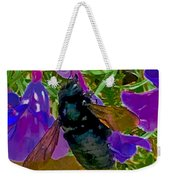 Female Carpenter Bee On Penstemons Weekender Tote Bag