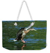 Female Duck Landing Weekender Tote Bag