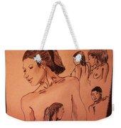 Female Figures Weekender Tote Bag