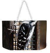 Female Hairy Woodpecker Weekender Tote Bag