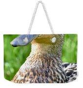 Female Mallard Duck Close Up Weekender Tote Bag