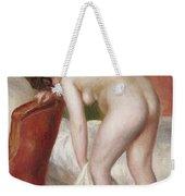 Female Nude Drying Herself Weekender Tote Bag