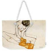 Female Nude Weekender Tote Bag