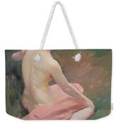 Female Nude Weekender Tote Bag by Jules Ernest Renoux