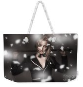 Female Showgirl Performing On A Theater Stage Weekender Tote Bag