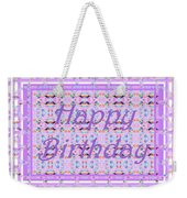 Feminine Lavender Birthday Card Weekender Tote Bag