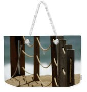 Fence Along The Beach Weekender Tote Bag