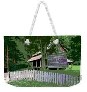 Fence And Cabin Weekender Tote Bag