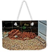 Fence And Chain Weekender Tote Bag