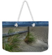 Fence And Dune Grass Weekender Tote Bag
