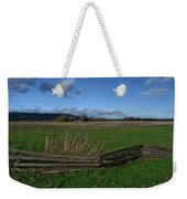 Fence And Open Field Weekender Tote Bag