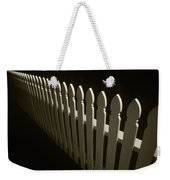 Fence Bw Weekender Tote Bag