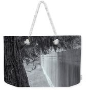 Fence In Black And White Weekender Tote Bag by Tom Singleton