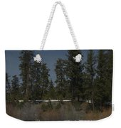 Fence In Snow Weekender Tote Bag