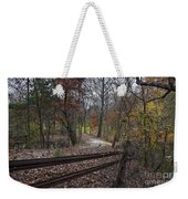 Fence In The Forrest Weekender Tote Bag