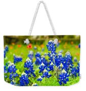 Fence Me In With Flowers Squared  Weekender Tote Bag