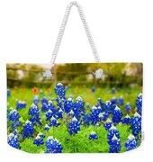 Fence Me In With Flowers Weekender Tote Bag