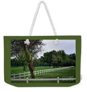 Fence On The Wooded Green Weekender Tote Bag