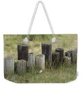 Fence Post All In A Row Weekender Tote Bag