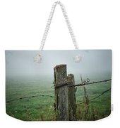 Fence Post And Fog Weekender Tote Bag