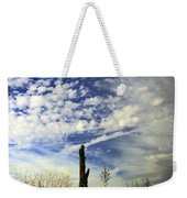 Fence Post And New Mexico Sky Weekender Tote Bag