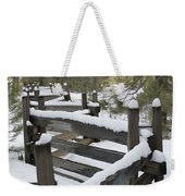Fence Post At Donner Lake Area Covered Weekender Tote Bag