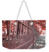 Fenced In Red Weekender Tote Bag