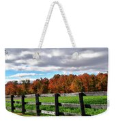 Fences, Fields And Foliage Weekender Tote Bag