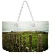 Fences In A Stormy Light Weekender Tote Bag