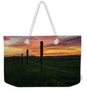 Fencline Sunset Weekender Tote Bag